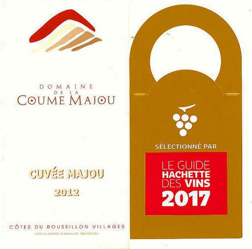 Cuvée Majou 2012, une étoile au Guide Hachette 2017