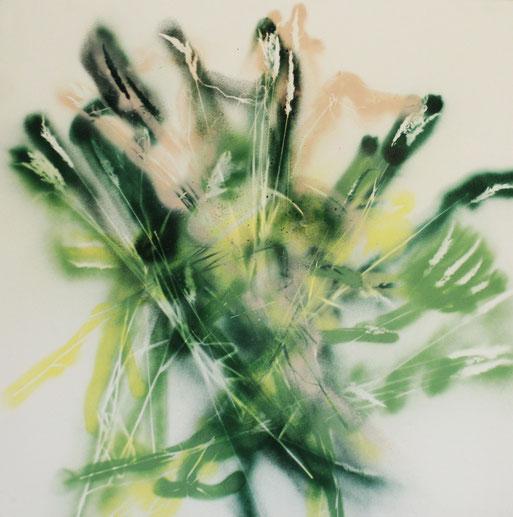 © Nathalie Arun, Bilderserie summertime, Mischtechnik auf Leinen, 1 x 1 m