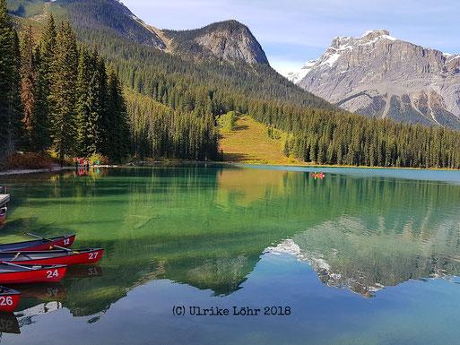 Emerald Lake im Sonnenschein