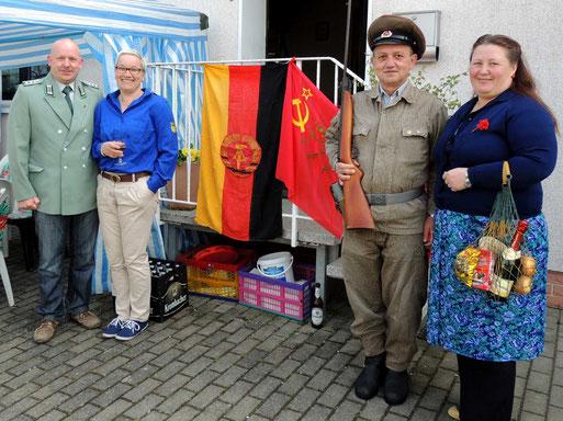 Die Ersten Mai-Feier-Leute trafen sich bereits zum vierten Mal in Flechtingen.