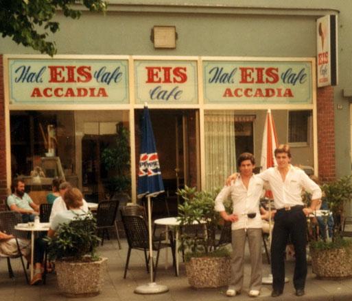 Das Eiscafé mit dem ursprünglichen Namen ,Accadia'