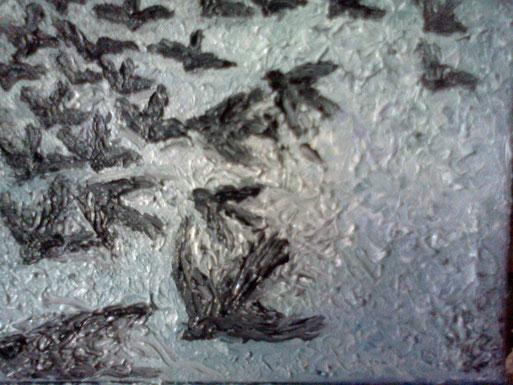 COM'ESULI PENSIERI - 2011 olio su tela 13 x 18
