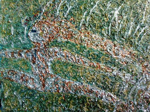 DANZA TRA I MONDI - 2010 olio su tela 45 x 75