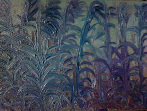 SERA NEL CANNETO - 2012 olio su tela 13 x 18