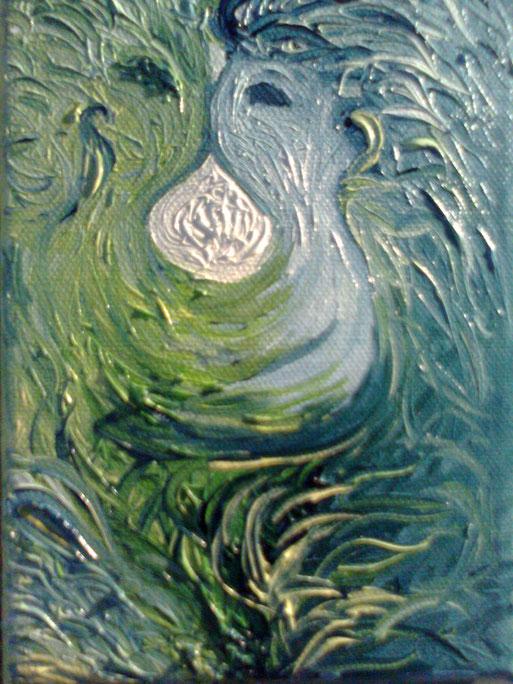 DI DUE, UNO - 2011 olio su tela 13 x 18