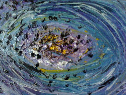 L'UOVO DEL CREATO - 2011 olio su tela 13 x 18
