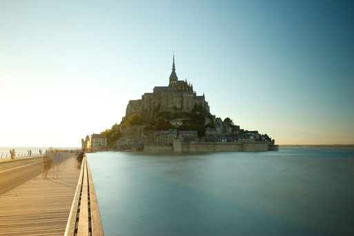 Mont-Saint-Michel at sunset