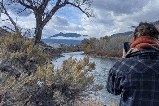 Wildnis in Wyoming, Nordstaaten der USA, Winter in Wyoming, Rocky Mountains