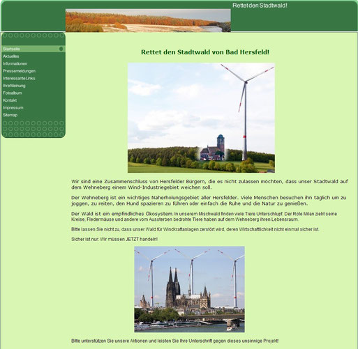 Bildschirmfoto Rettet-den-Stadtwald.de