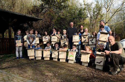 Fürwar ein tolles Ergebnis, jeder durfte einen Fledermauskasten mit nach Hause nehmen