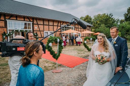 Hochzeitsfotograf vom RBB gefilmt