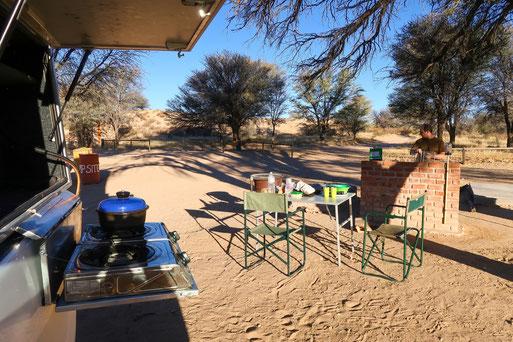 Sitzas Farm - Campsite vor den Toren des Kgalagadi Transfrontier Park