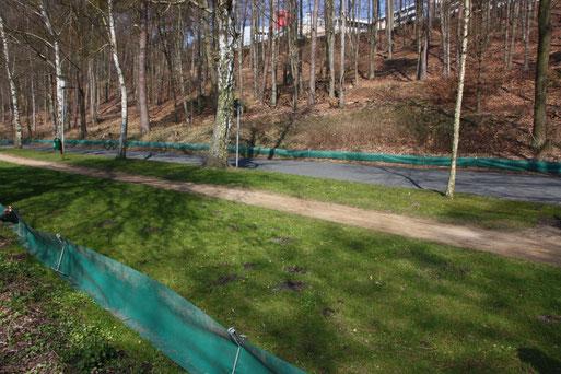 Amphibienschutzzaun Mölln Hegesee                                        NABU/Borck