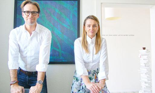 Die geschäftsführenden Inhaber von insieme Werbung &  Design: Marc und Smiljana Aebli