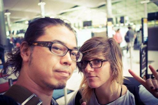 Hidefumi Usami with Dana (Distortion) Yavin. Photo by Dana
