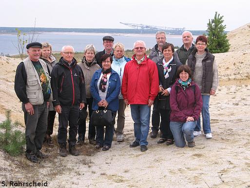 Gäste und Gastgeber im Naturparadies Grünhaus.