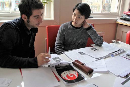 classmates studying