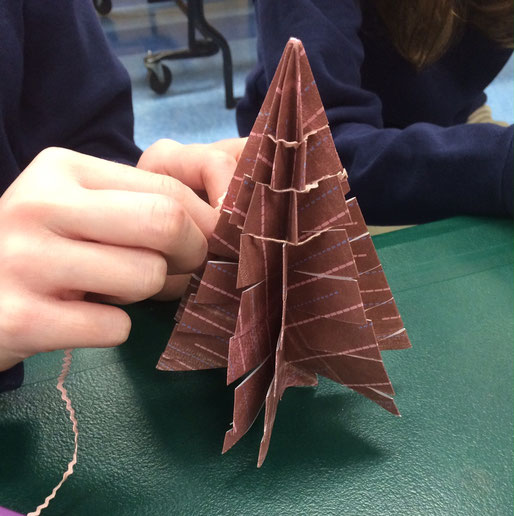 Brown Origami Christmas Tree