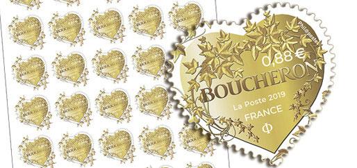2019 - EDITION DE TIMBRES POSTE POUR LA SOCIETE BOUCHERON