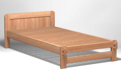 組子ベッド(悠々)杉黒芯