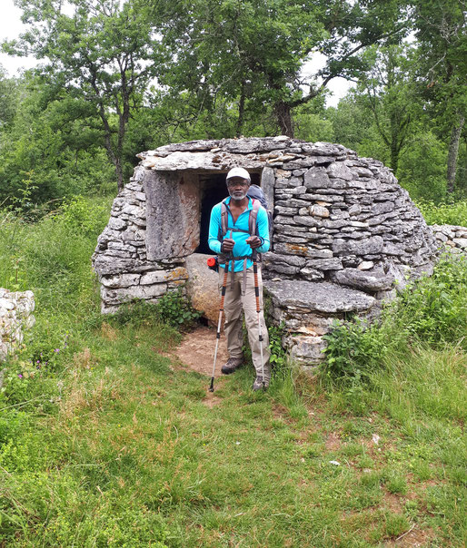 15 juin 2018, sur le chemin de Compostelle (Via Podiensis),  entre Varaire et Cahors.