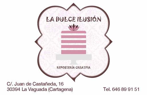Logo la dulce ilusión. Tartas de fondant, cupcakes, galletas, todo lo necesario para tus creacciones. Talleres en Cartagena infantiles y adultos.