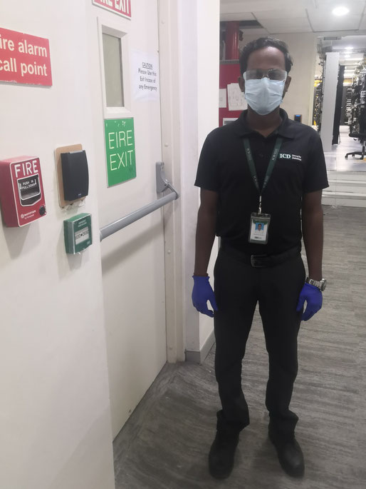 Asaithambi in all his PPE ready for the job!