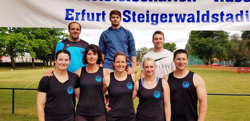 Hinten von links nach rechts: Stefan Münch - Yosef Alqawati - Daniel Bub und vornoe von links nach rechts: Wilma Jansen - Kristina Telge - Bettina Schardt - Natascha Wolf - Hendrik Szabó!