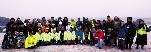 ボランティアだけで76人も集まった。東北巨木調査研究会やウォーキングクラブMTC21など心強い仲間がたくさん協力してくださいました。