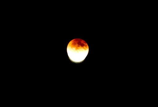 月が出てきた瞬間です
