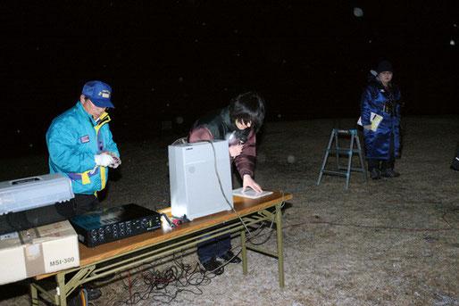 巨木研究会の伊藤理事はボランティアで音響・看板・たき火の薪など提供してくれ、全面協力をしてくださいました。