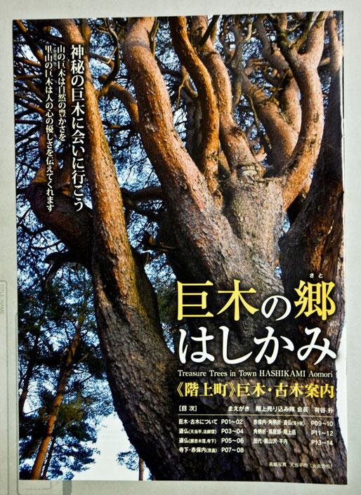 「巨木の郷はしかみ」が発行となりました。東北巨木調査研究会の協力で完成しました。1月末発行の「しるばにあっぷる」と一緒に会員には送付します。(A4カラー・16ページ)