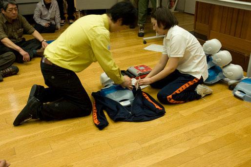 AEDの研修もありました
