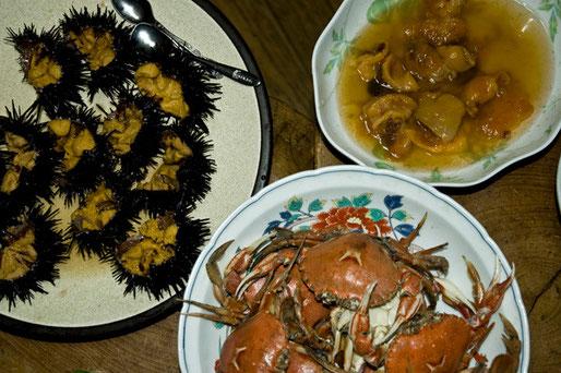 夜は南部美人の純米大吟醸と海産物を堪能しました