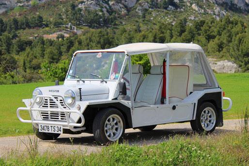 Location de cabriolets vintage en Provence : Austin Mini Moke