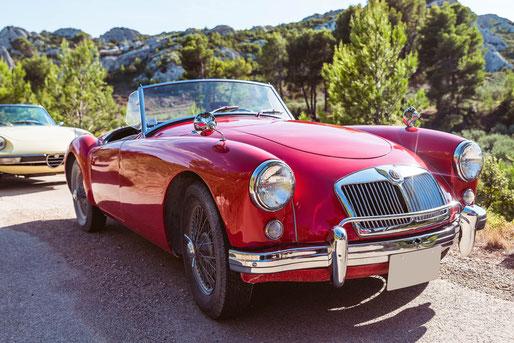 Location de cabriolets vintage en Provence : MG A
