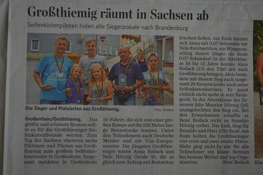 Pressebericht vom 13.09.2014 aus der Elbe Elster Rundschau