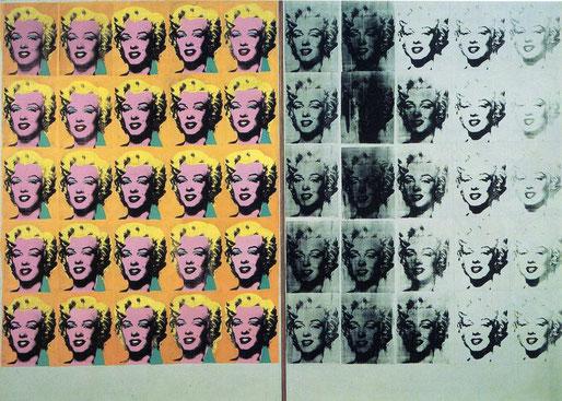 Самые известные картины в мире: Диптих Мэрилин (Энди Уорхол)