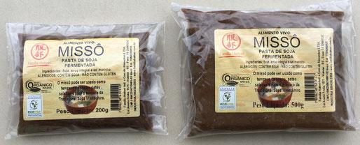 Misso organico vivo em embalagens de 200g e 500g