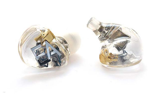 Ecouteurs intra-auriculaires in-ear monitors Erdre Audio EA B201T translucides