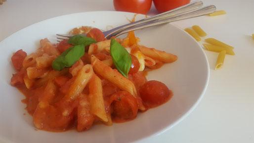 Fertiger Tomaten-Nudelauflauf