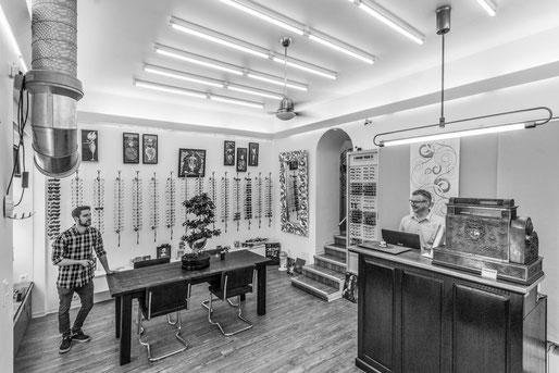 Unser Laden innen – Lichtblick Optik, Nürnberg-Gostenhof