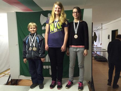 Gratulation den beiden zum Edelmetall am OSPSV Jugendtag in Wil Kategorie Kniend U16 1. Rang Sandra Krannich, 3. Rang Selin Brauchli