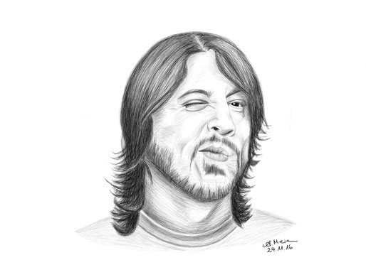 "Dave Grohl von ""Foo FIghters"""