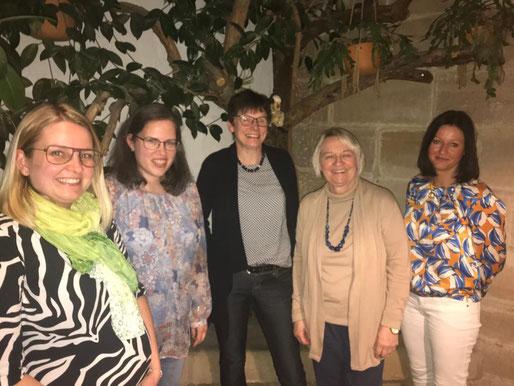 neu gewählter Vorstand: Katharina Haag, Christine Bielesch, Petra Abele (Vorstandsteam), Kornelia Wacker (Kassiererin) & Daniela Seber (Schriftführerin)