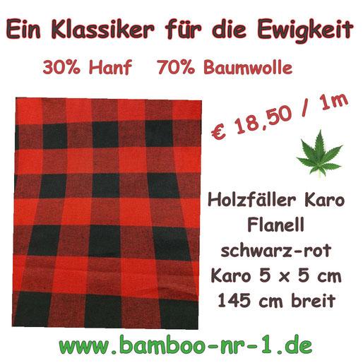 Hanf-baumwolle-flanell-holzfällerkaro-schwarz-rot