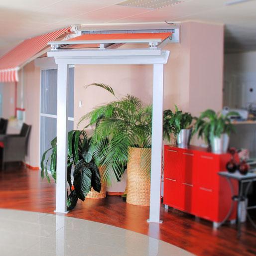 Wetterschutzsystem für Eingangsbereich