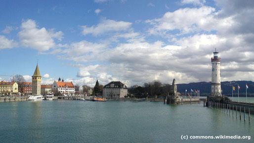 Die Kulturreise 2016 geht an den Bodensee, Foto von Lindau in Bayern am östlichen Ufer des Bodensees