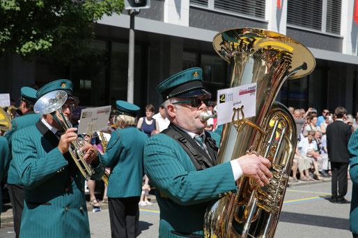 Hans Peter am kantonalen Musikfest 2015 in Glarus