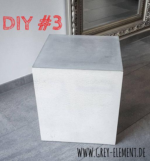 einen Beistelltisch aus Beton selber bauen